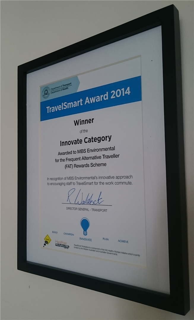 MBS wins a TravelSmart Award, Features in The West Australian