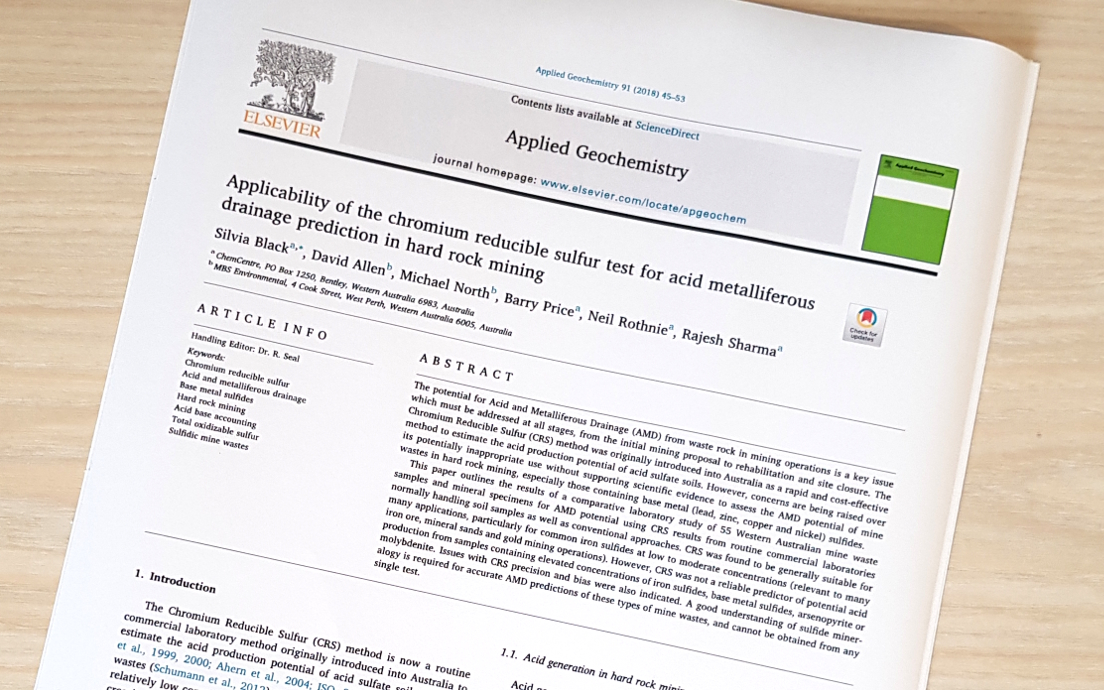 Dr David Allen and Dr Michael North – Published Article with ChemCentre WA